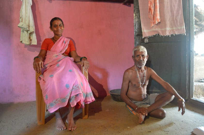 Keshav and Savita Mahale (left) in Pasodipada hamlet: 'With advances in medicine, people prefer doctors. But they come to us when medicines fail them. There is no harm in co-existing'. Bhagat Kashinath Kadam (right) with his wife Jijabai in Washala village: 'The doctors often seek our help in cases which they can't explain'
