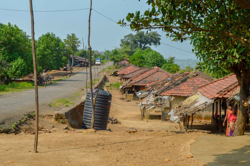 Chas village (left): the Sanad family's invitation to the bhagats is not unusual in the five padas (hamlets) of Chas gram panchayat. The local PHCs are barely equipped, and Mokhada Rural Hospital (right) is around 15 kilometres away
