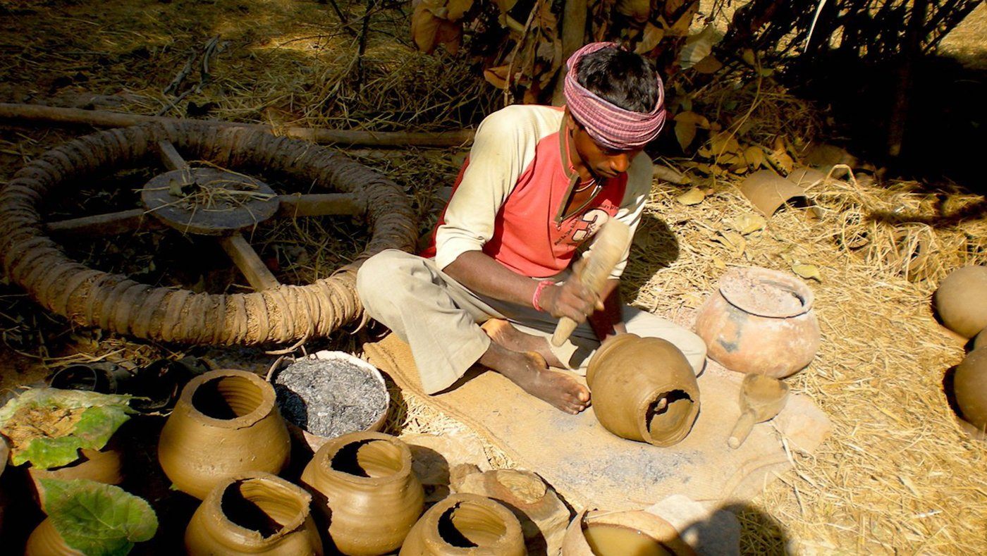 Man making pots