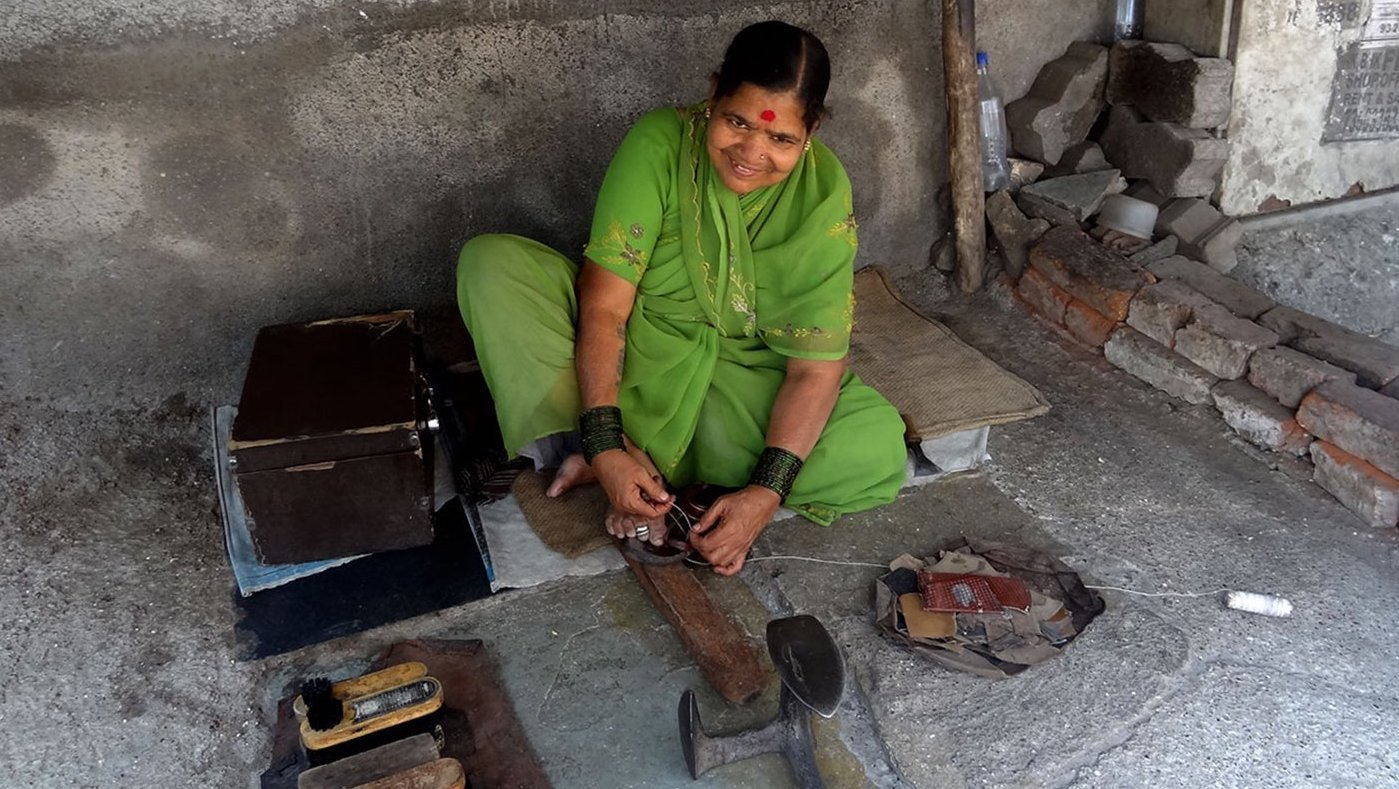 Woman cobbler