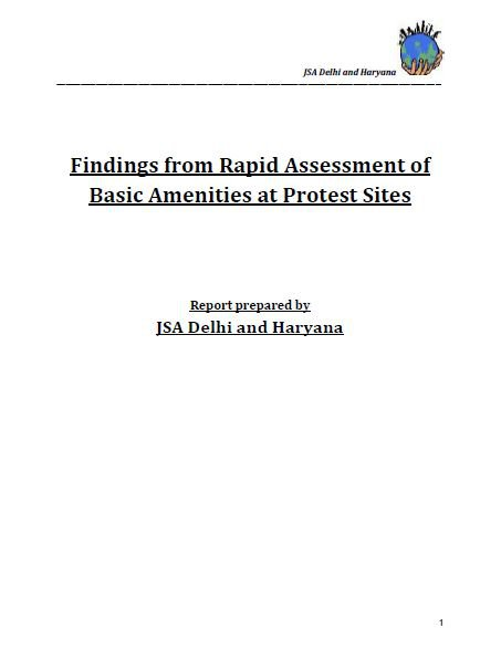 Findings from Rapid Assessment of Basic Amenities at Protest Sites