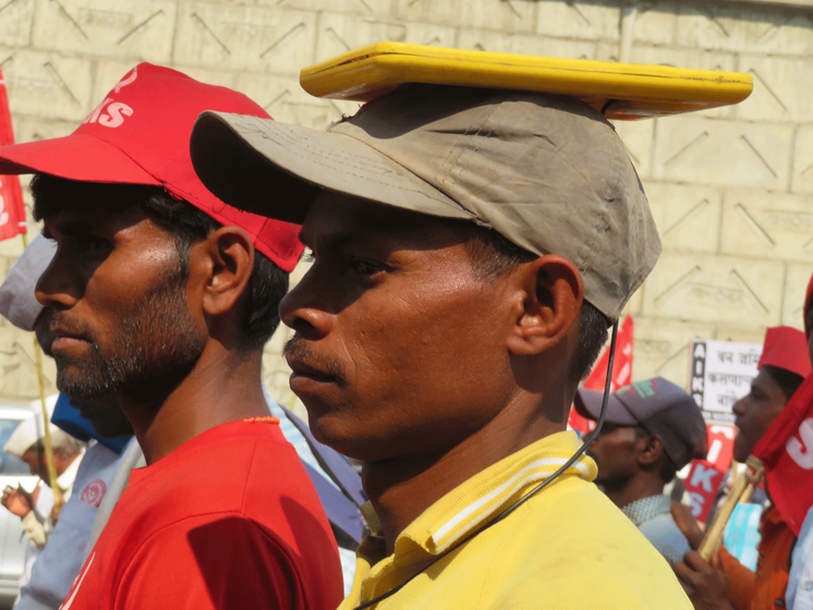 Two men during the march