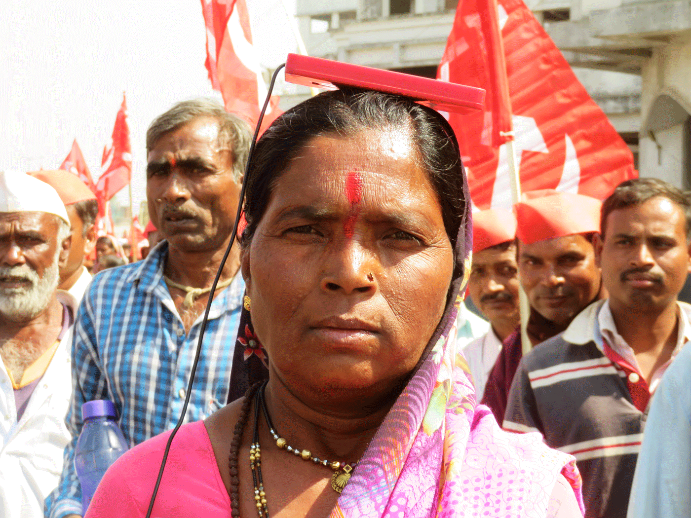 A woman during the March
