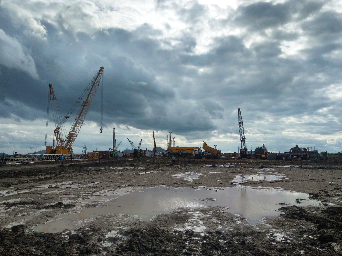 Construction work- Wide angle.