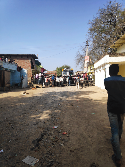 Bockade in Bhelonilodh village to demanding a proper road