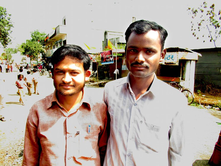 Sandeep Bidve on the right with his friend