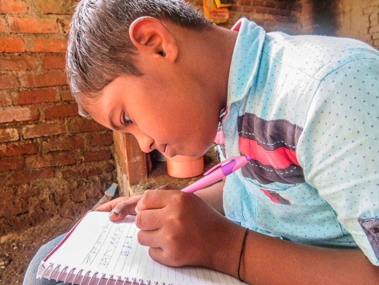 Prateek Raut sometimes tried to write a few alphabets, but with the school break extending to 11 months, he is forgetting all that he learnt, worries his mother