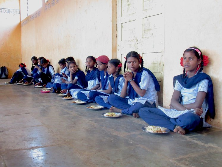 Meal being served to students at the school