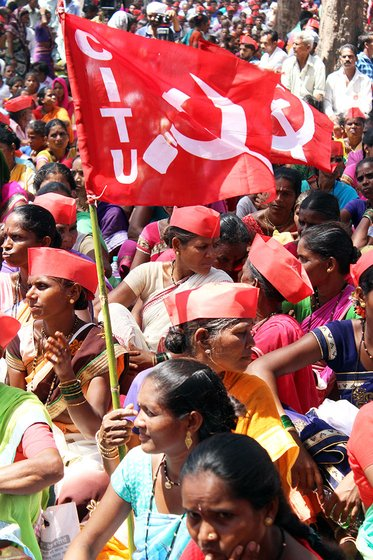 Women at the farmers' march