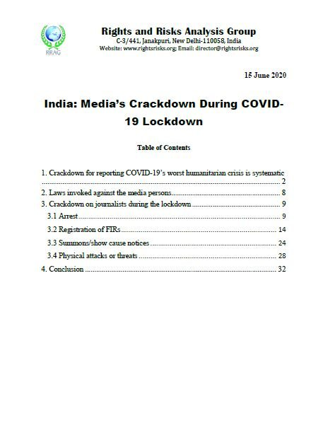 India: Media's Crackdown During COVID-19 Lockdown