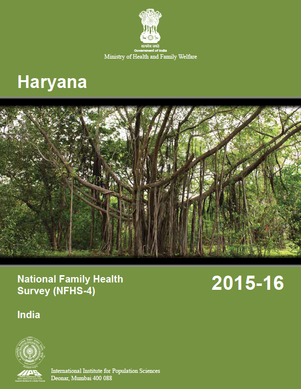 National Family Health Survey (NFHS-4) 2015-16: Haryana