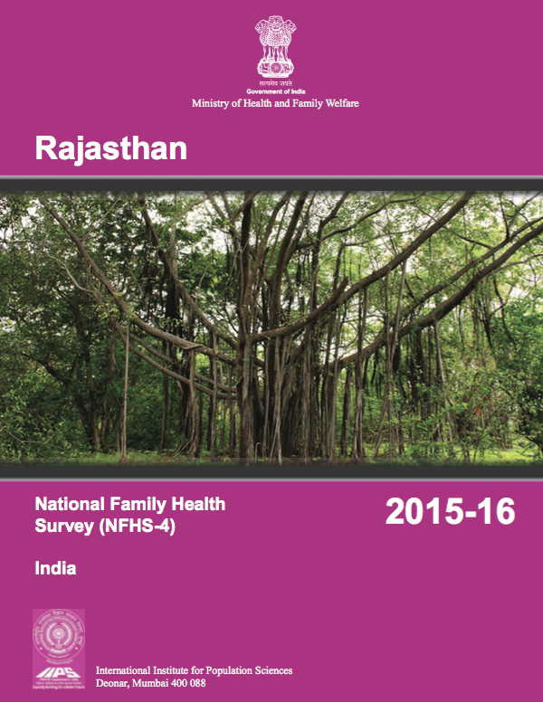 National Family Health Survey (NFHS-4) 2015-16: Rajasthan