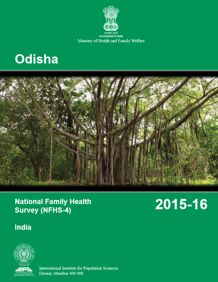 National Family Health Survey (NFHS-4), India, 2015-16 Odisha