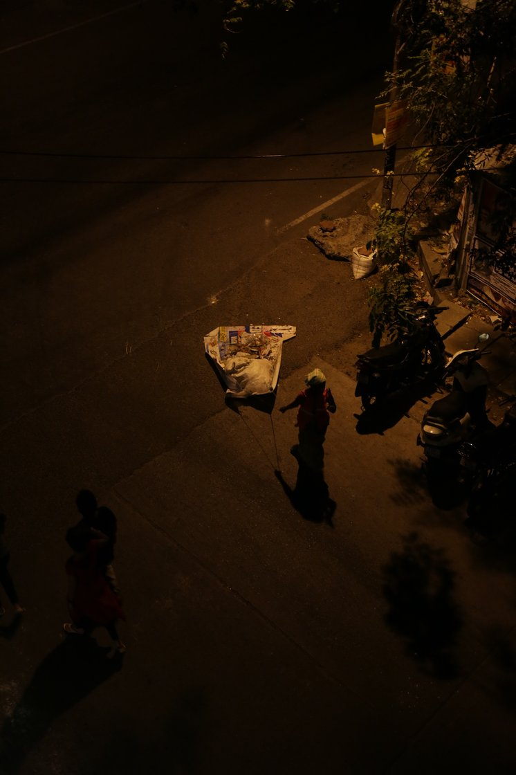 Through the nights, the women spend hours removing the garbage