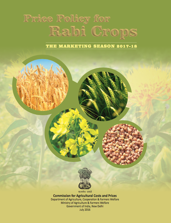 Price Policy for Rabi Crops: The Marketing Season 2017-18