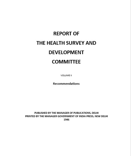 Report of the Health Survey and Development Committee: Vol. II