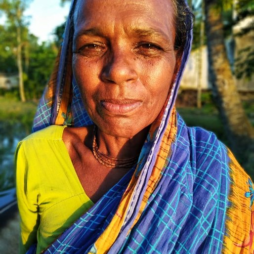 Sabita Biswas is a Rears livestock and sells cow's milk from Rajat Jubilee, Gosaba, South 24 Parganas, West Bengal
