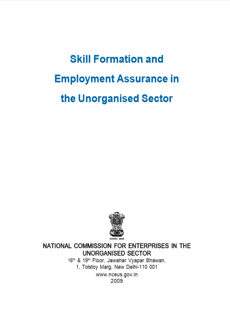 Skill Formation and Employment Assurance in the Unroganised Sector 1.png