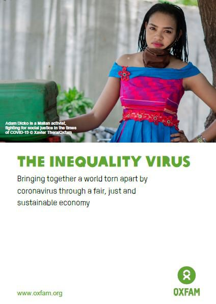 The Inequality Virus: Bringing together a world torn apart by coronavirus through a fair, just and sustainable economy