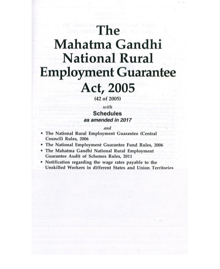 The Mahatma Gandhi National Rural Employment Guarantee Act, 2005