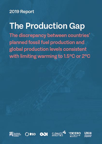 The Production Gap, 2019