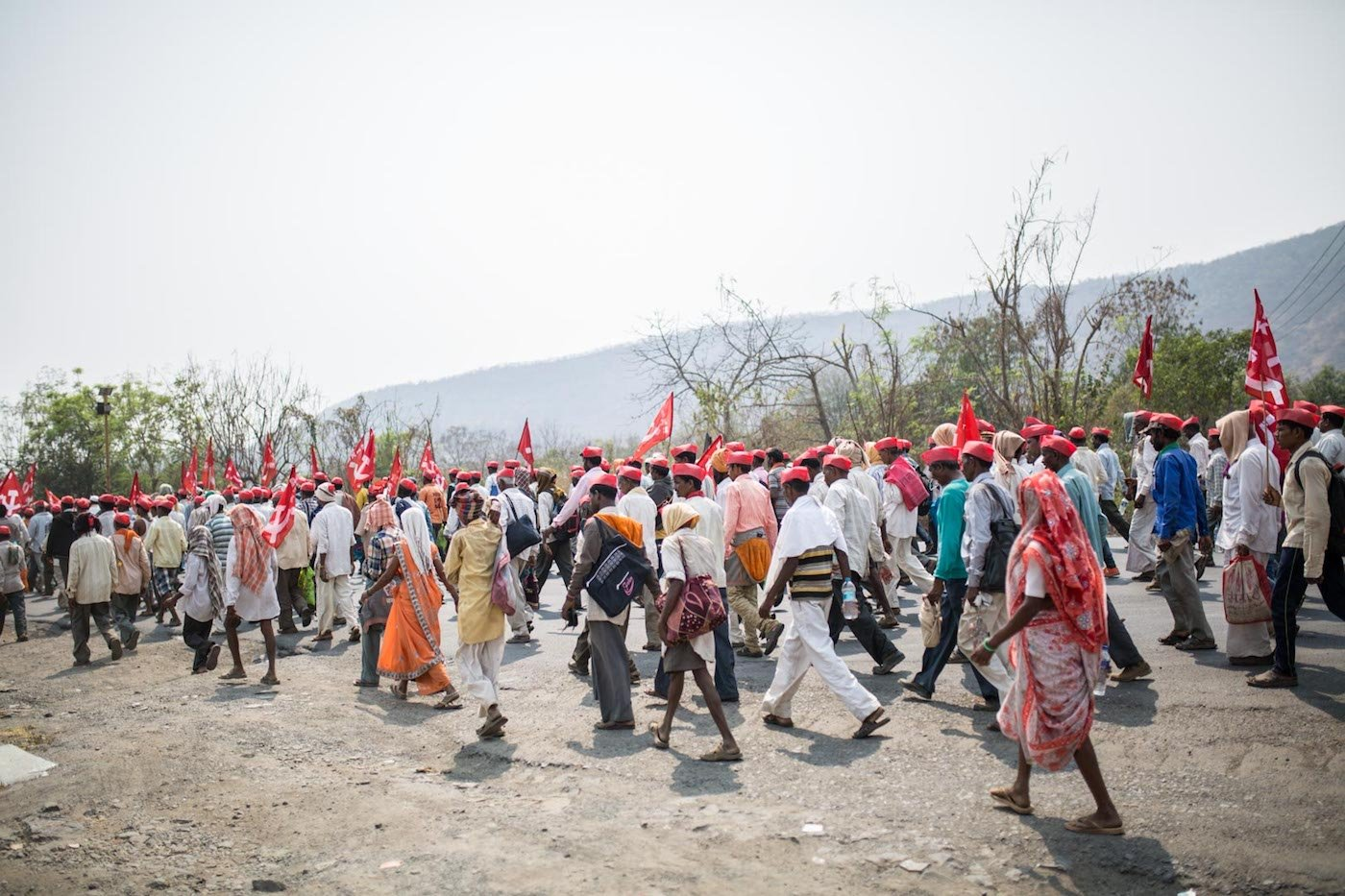 Farmers marching