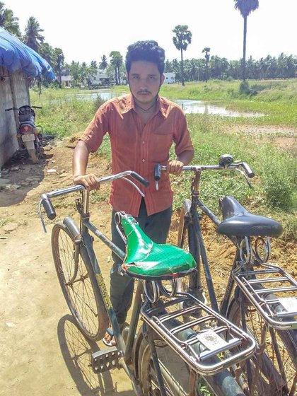 Suresh Bahadur's work required making rounds on a bicycle at night; he used wood as cooking fuel during the lockdown