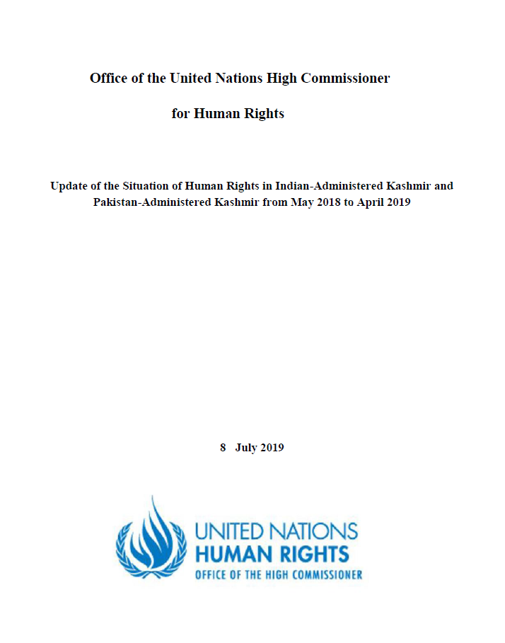 Update of the Situation of Human Rights in Indian-Administered Kashmir and Pakistan-Administered Kashmir from May 2018 to April 2019