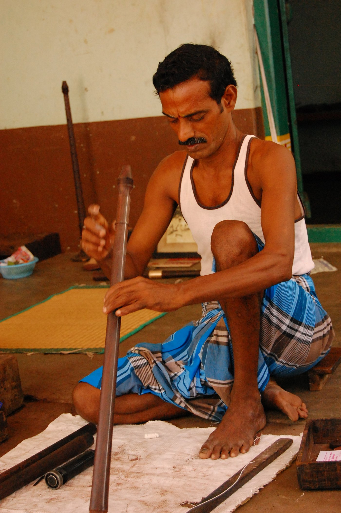 Man making Nadaswaram