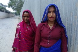 Migrant women at work in Gurgaon