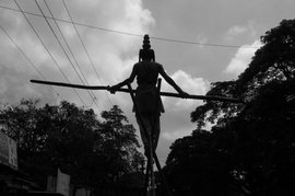 Walking a livelihood tightrope – literally