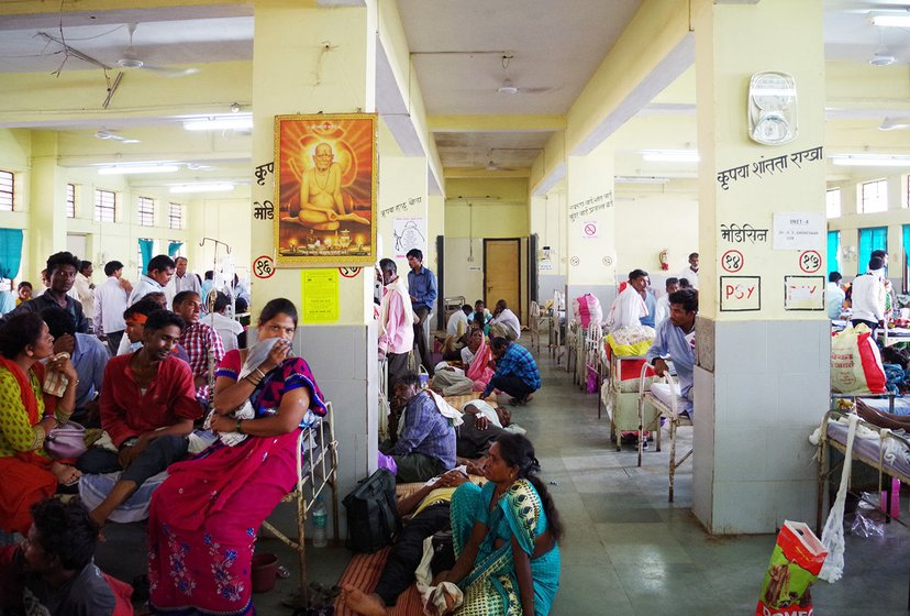Ward number 18 of the Yavatmal Government Medical College and Hospital was flooded with patients mostly farmers who had accidentally inhaled toxic pesticides while spraying on their fields between July and November. This photo was taken in September 2017